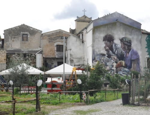 Il cibo relazionale nel murale di Guido Palmadessa a Danisinni